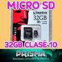 Memoria Micro Sd 32gb Clase 10 Kingston - Envíos