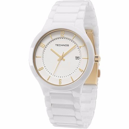 Relógio Technos De Cerâmica Branco Com Calendário Gm10ij 1b - R  379,90 em  Mercado Livre 0bf4763d79