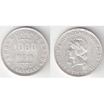 1000 Reis - 1912 - X Grammas - Prata 900 -10 Gr -26 Mm - S/f