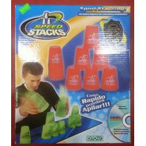 Vasos Apilables Speed Stacks + Cronómetro Y Dvd