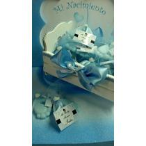 Souvenirs Piecitos Nacimiento Baby Shower Con Cuna!promo!