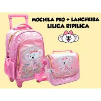 Kit Mochila Peq. E Lancheira Lilica Ripilica