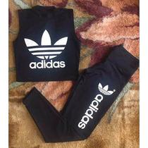 Conjunto Adidas Leggin E Crooped Lindos Panicats Feminino
