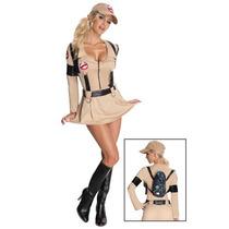 Disfraz De Lujo Mujer Ghostbuster Traje Vestido Cazafantasma