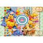 Kit Imprimible Fondos Clipart Winnie Pooh P/ Cotillon Decora