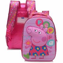 Mochila Escolar Infantil Peppa Pig 5243 Pink