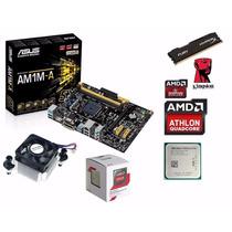 Kit Am1 Hdmi Amd Athlon 5150 Quad Core +4gb Memória Hyperx C
