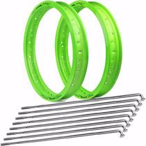 Par Aro Motard Viper + Raio 4mm Cg 150 Titan - Verde Neon