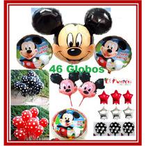 46 Globos Mickey Mouse, Envío Gratis,decora Fiesta Infantil.