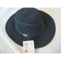 Sombrero Australiano Marca Jacaru De Cuero