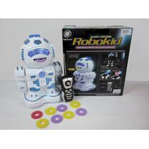 Robot A Control Remoto - Dispara Discos De Goma Eva
