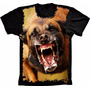 Camiseta Cachorro Engraçada Estampa Total Frente Msculina