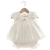 Vestido E Calcinha Melissa Cru - Beth Bebê