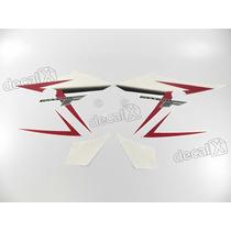 Kit Faixa Emblema Adesivo Suzuki Gsx 650f 2012 Branca Preta