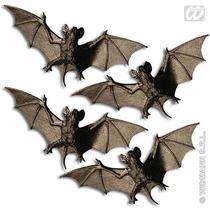 Murciélagos De Juguete De Plástico P/halloween 4 X 11cm 4u.