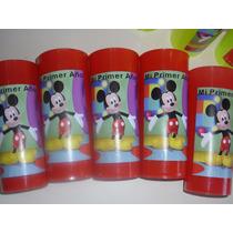 Vasos Plasticos Personalizados Mickey Minnie Lavables 10u