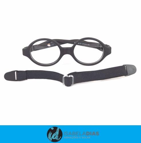 a3a8b06791844 Armação Óculos Grau Bebe Unissex Elastico 0-3 Anos Flexivel - R  78 ...