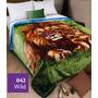 Frazadas Simil Piel 1 1/2 Plazas Animal Print Jean Cartier