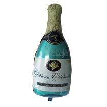 Globo Metalico Autosellable Botella Champagne 34cm