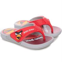 Chinelo Angry Birds Com Super Raquete Cinza - Grendene