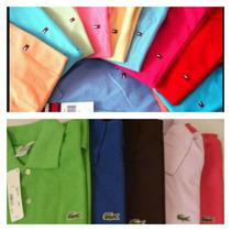 Camiseta Blusa Gola Polo Feminina Kit 3
