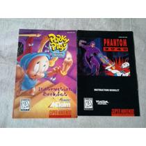 Manual Jogo Super Nintendo - Pork Pigs - Phanton