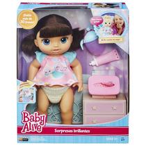 Baby Alive Fraldinha Mágica Morena Fala