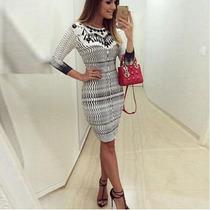 Vestido Sexy Panicat 2016 -no Joelho,blogueira,inverno,lindo