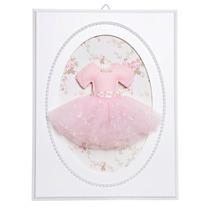 Quadrinho Quarto Decorativo Bebê Saia Bailarina Rosa Pérolas