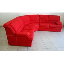 Sala Roja En L 2 Sillon - Sofá Love Seat Y Esquinero Grande