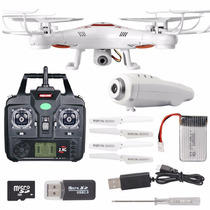 Drone X5c -1 Syma Camara Hd Foto,video Gratis 4 Aspa Mas 4gb