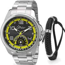 Kit Relógio Condor Masculino Com Pulseira Co2115vg/k3p