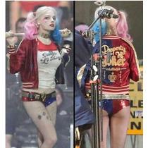 Jaqueta Cosplay Harley Quinn Arlequina Harlequina Esquadrão