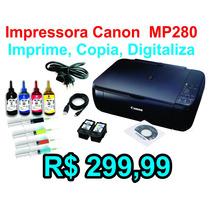 Impressora Multifuncional Canon Mp280 + Kit Recarga + Tintas