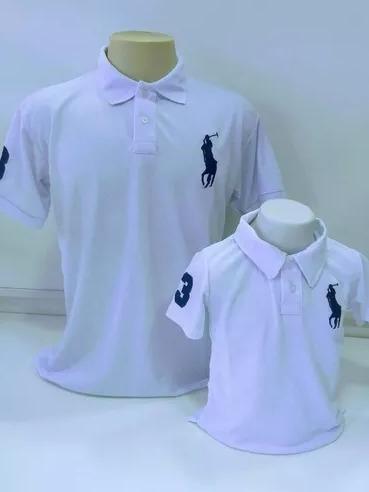cbd3edf728 Camisa Polo Pai E Filho Kit Com 2 Camisetas Pronta Entrega - R  98 ...