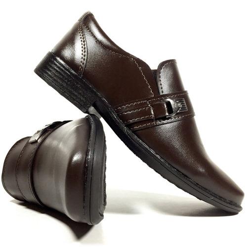 72afc3a68 sapato social infantil masculino marrom café franca top. Carregando zoom.