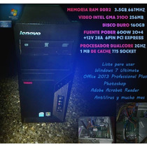 Computadora Dual Core 3.5gb Ram 160gb Mejor Precio