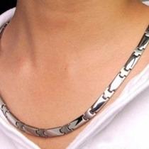 Collar Titanio Germanio Puro De 240 Puntos Japon Unisex