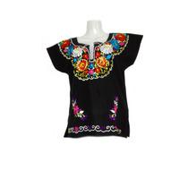Blusa Mexicana Bordadas Típica Regionales Artesanal Colores