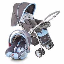 Carrinho De Bebê Com Bebê Conforto Travel Systemreverse Azul
