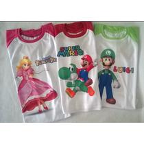 Franelas Premium Sport Mario Bros