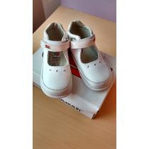 Zapatos Pocholin Blancos Para Niña