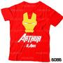 Lembrança De Aniversário Homem De Ferro Camiseta Avengers