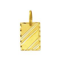 Leão Jóias Pingente Masculino Placa Em Ouro 1,2 Cm 18k