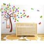 Vinilo Pared Infantiles Búhos Color Decoración Stickers