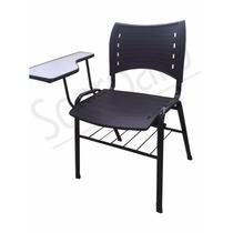 Cadeira Escolar Com Prancheta E Gradil Plastico Resist