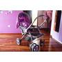 Coche Cuna Bebe Baby Kits Mod. Amarilis Niña Lila/gris