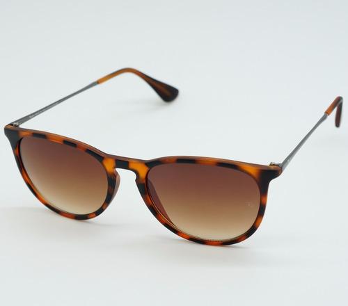 1ba1c4047 Óculos Sol Masculino Redondo Érica Tartaruga Marrom Polariza - R$ 79 ...