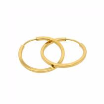 Brinco De Argola Em Ouro 18k-750- Frete Grátis