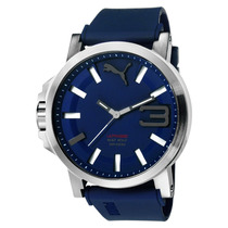Puma Ultrasize Bold 50mm Correa Caucho Azul Reloj Diego Vez
